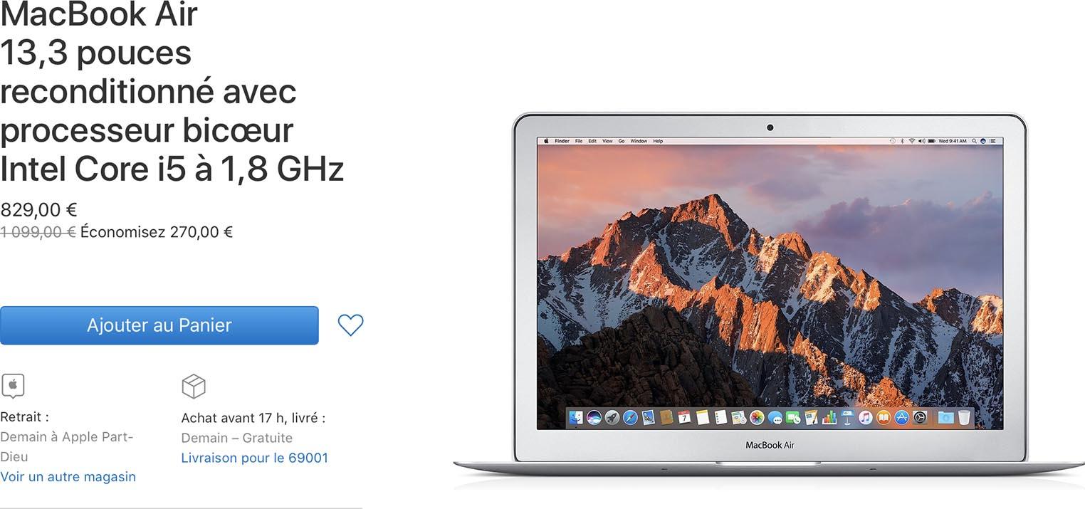 MacBook Air classique Refurb Store