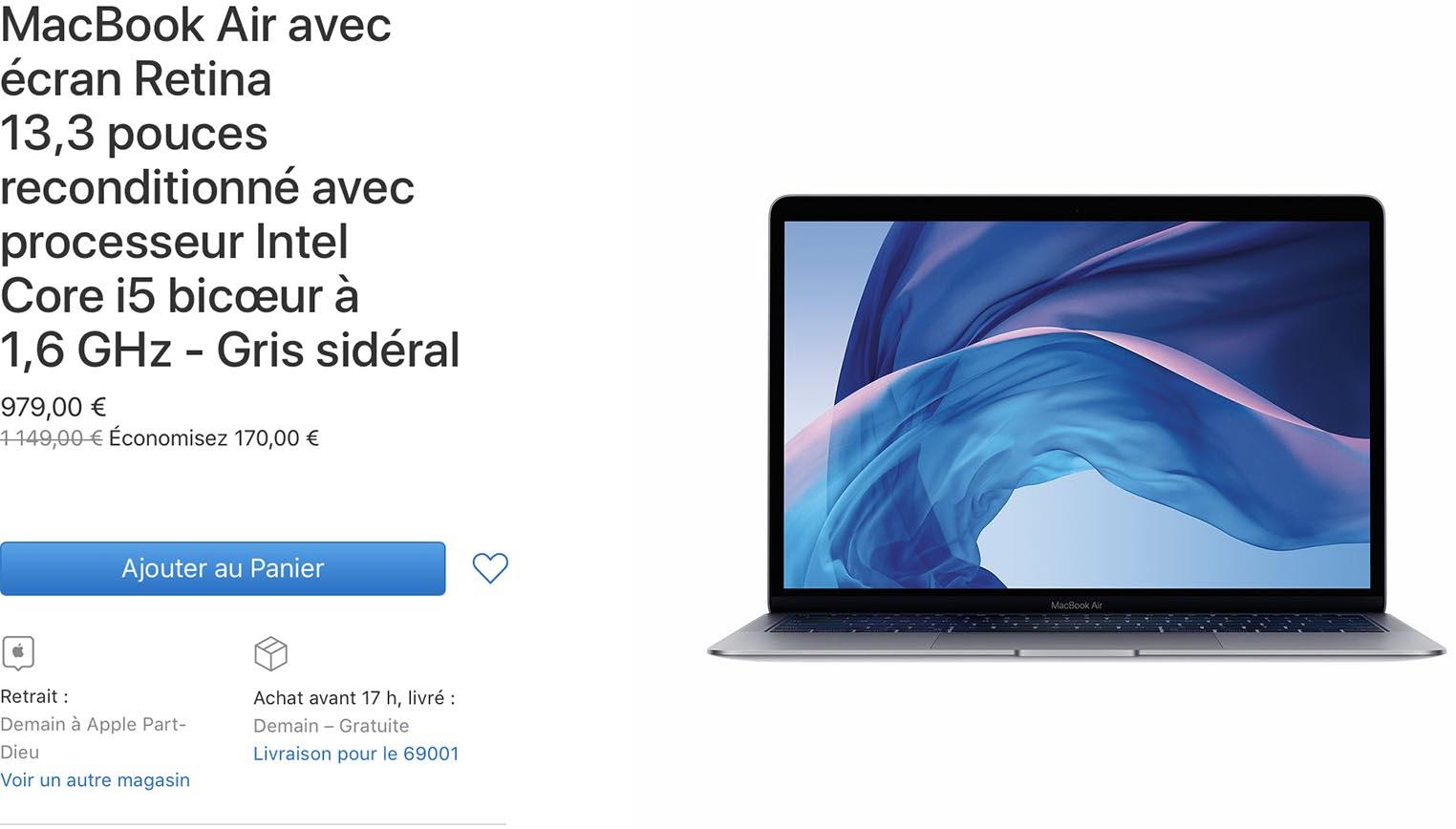 MacBook Air Retina Refurb Store