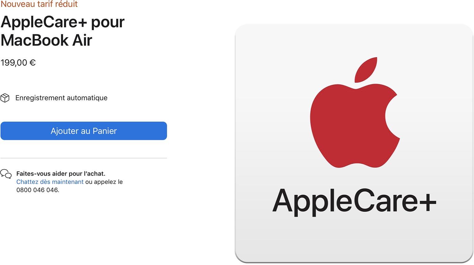 AppleCare+ MacBook Air M1