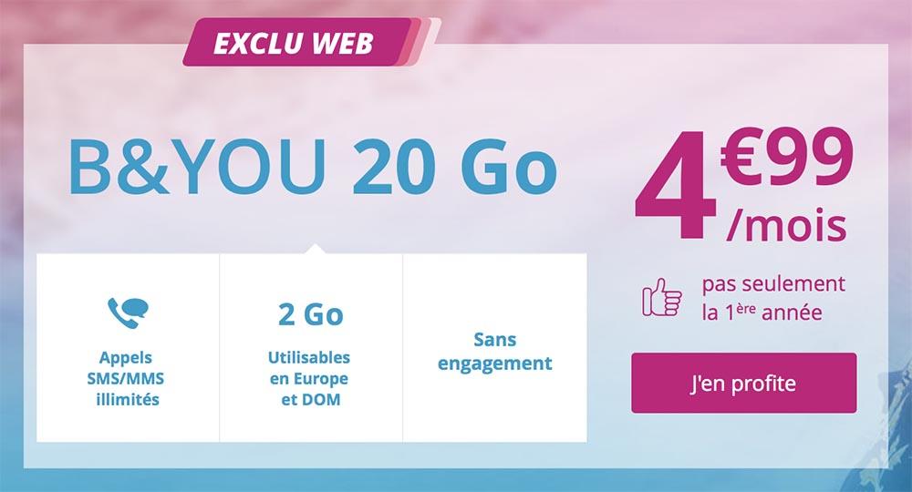 Consomac Un Forfait 20 Go A 4 99 A Vie Chez Bouygues Telecom