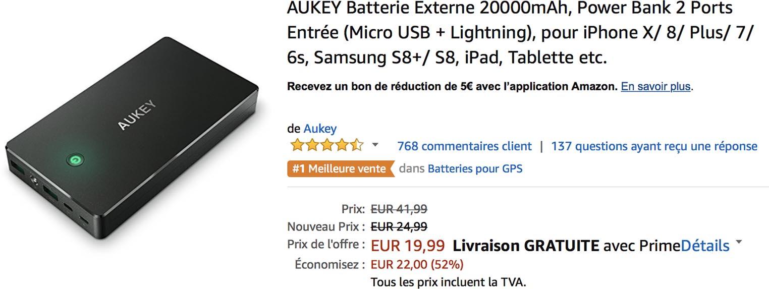 Batterie Amazon Aukey