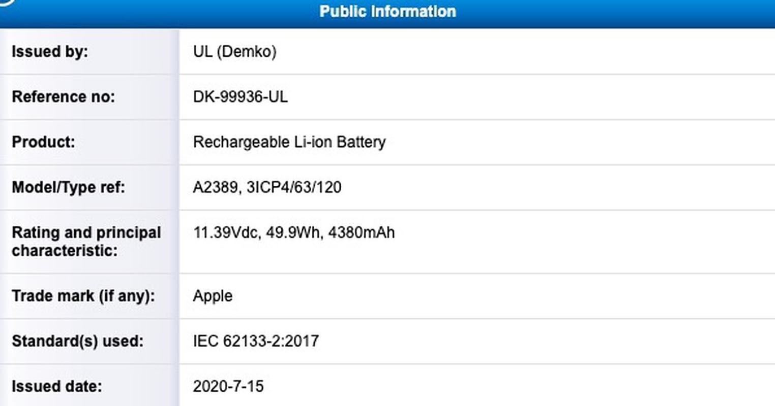 Batterie MacBook Air A2389