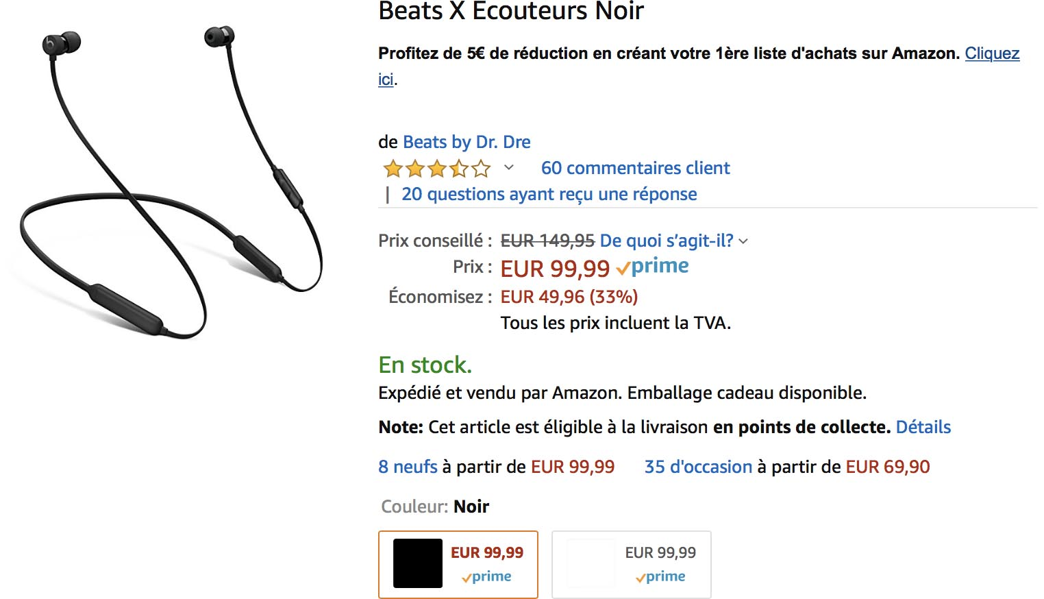 Promo BeatsX Amazon