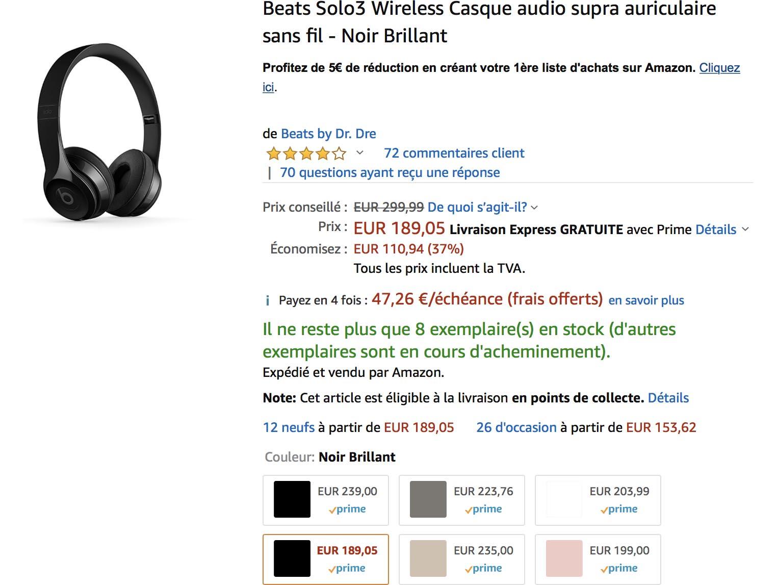 Promo Solo3 Beats Amazon