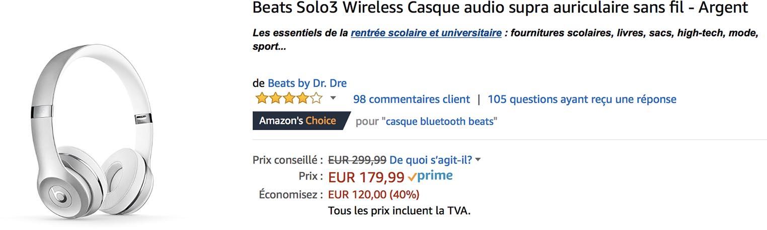 Beats Solo3 promo Amazon