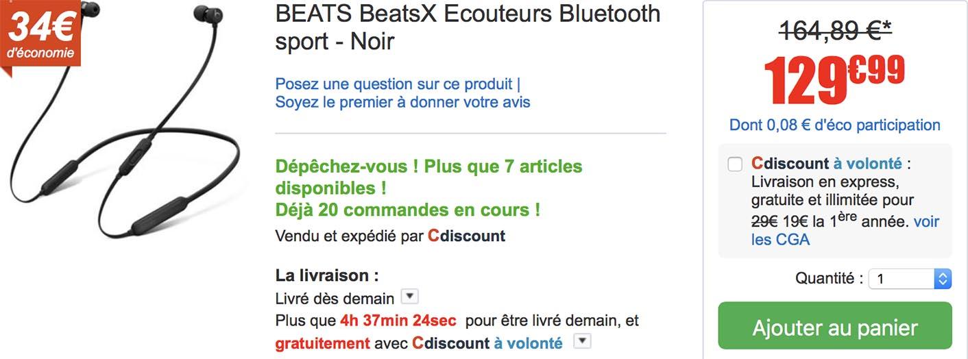 BeatsX promo CDiscount