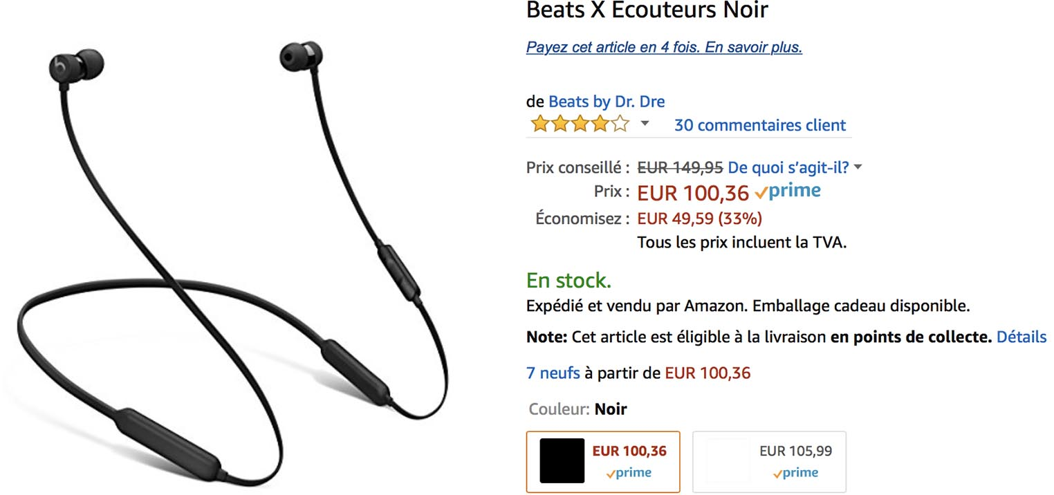 BeatsX promo Amazon