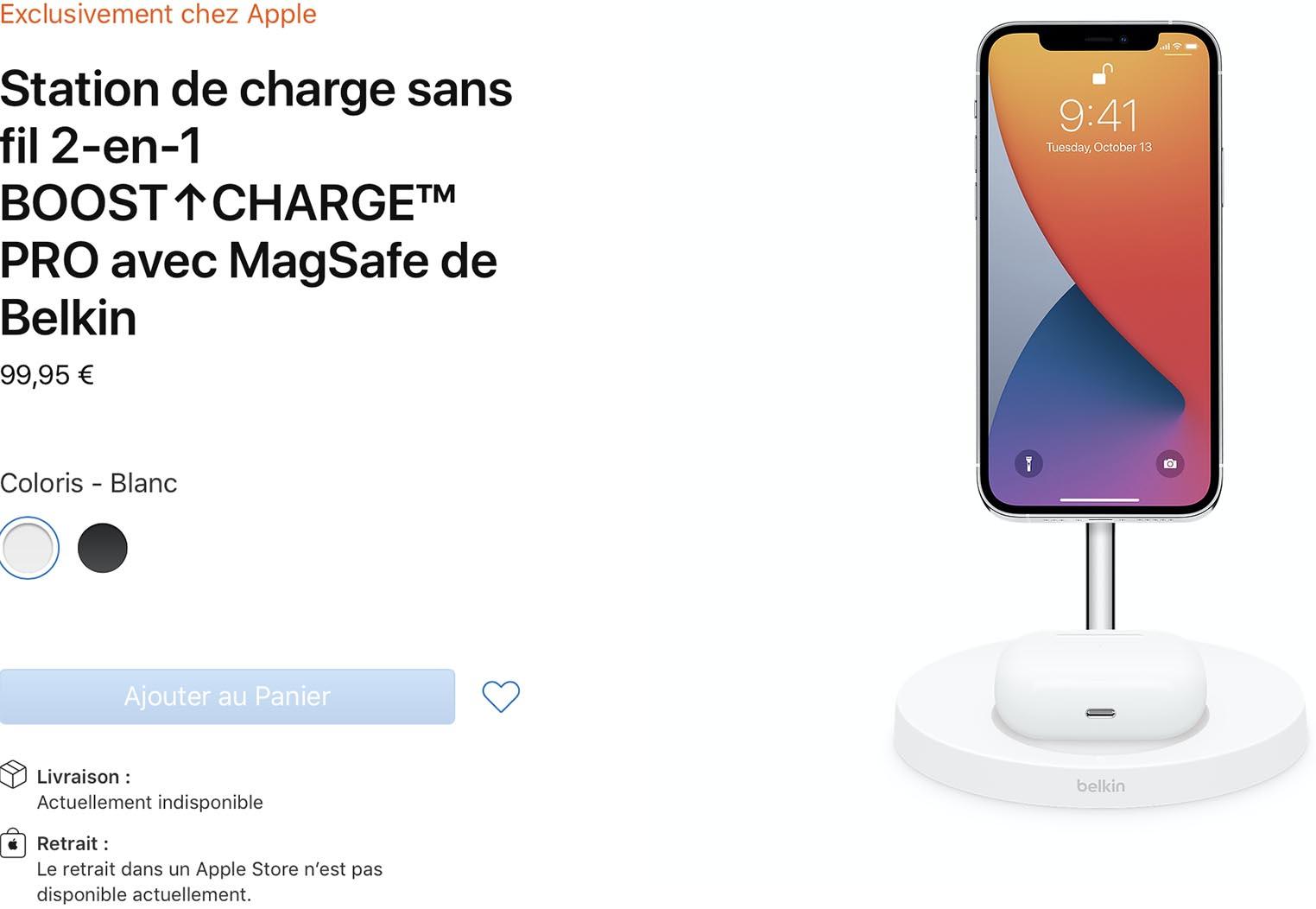 Chargeur MagSafe deux-en-un Belkin Apple Store