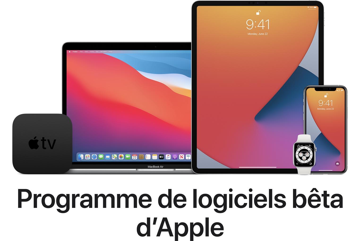 Programme bêtas publiques Apple