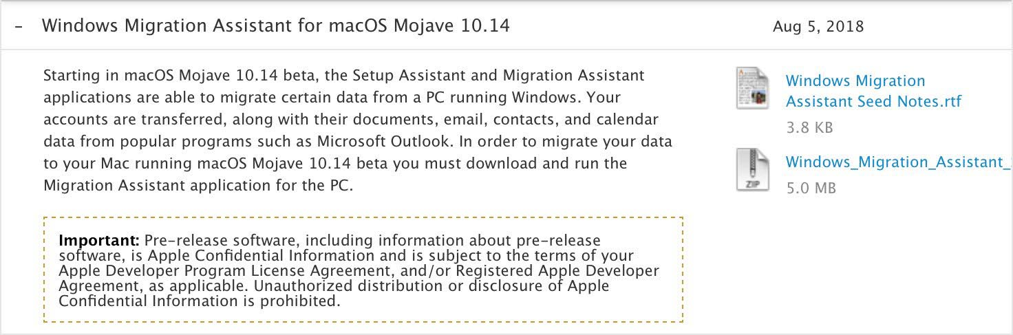 macOS Mojave Assistant migration
