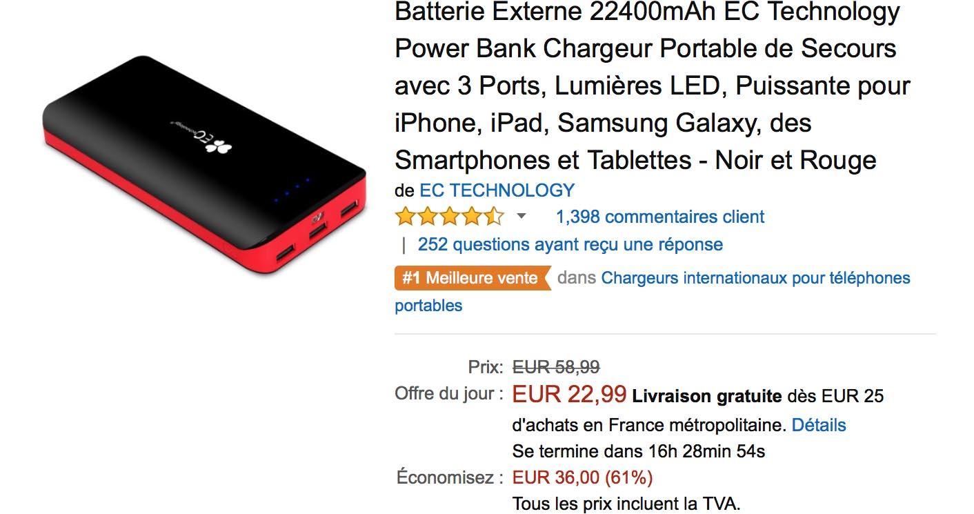 Amazon Batterie iPhone