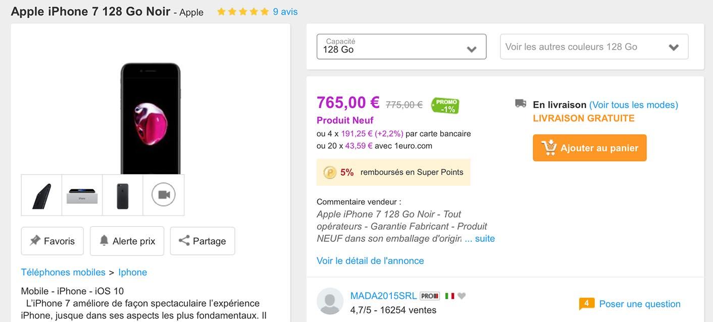 Promo PriceMinister iPhone