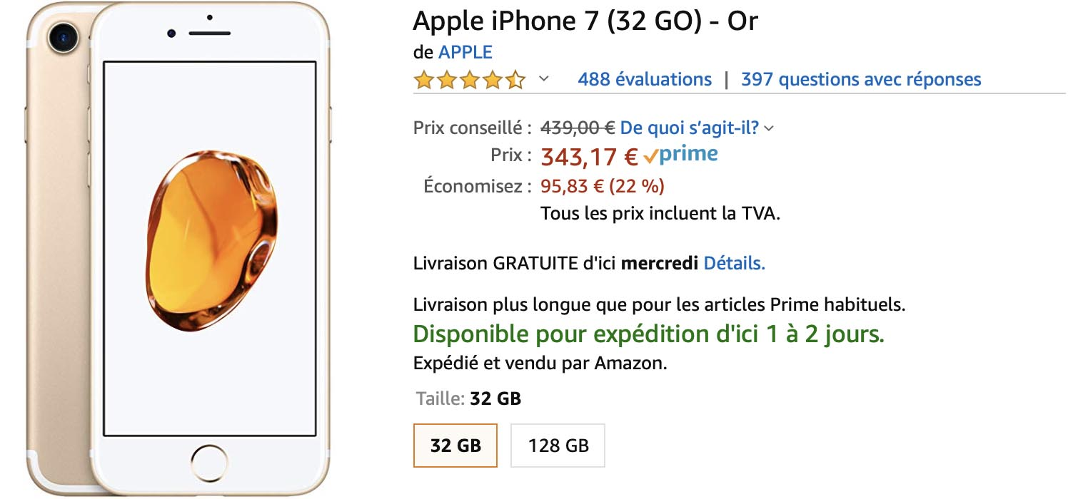 Black Friday Top Achat iPhone 7