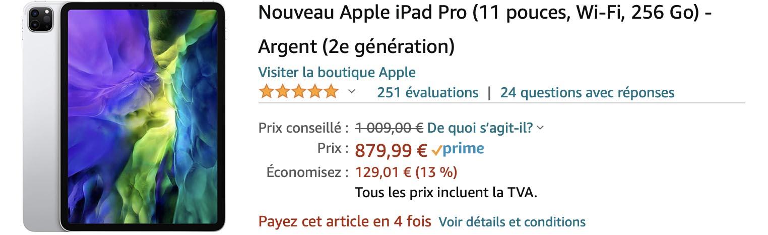 iPad Pro 11 pouces Black Friday Amazon 2020