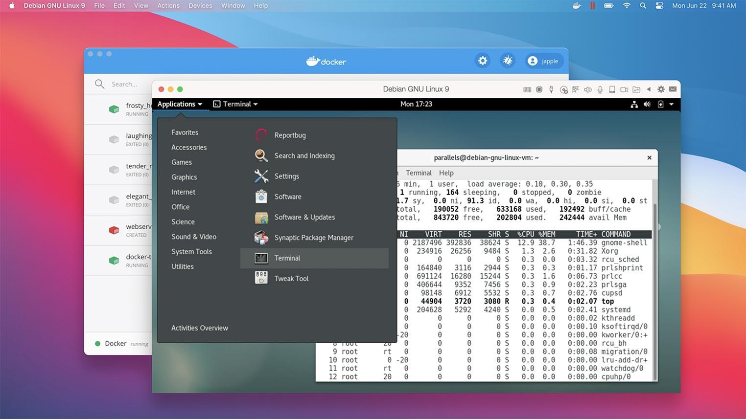 Virtualisation Debian macOS Big Sur