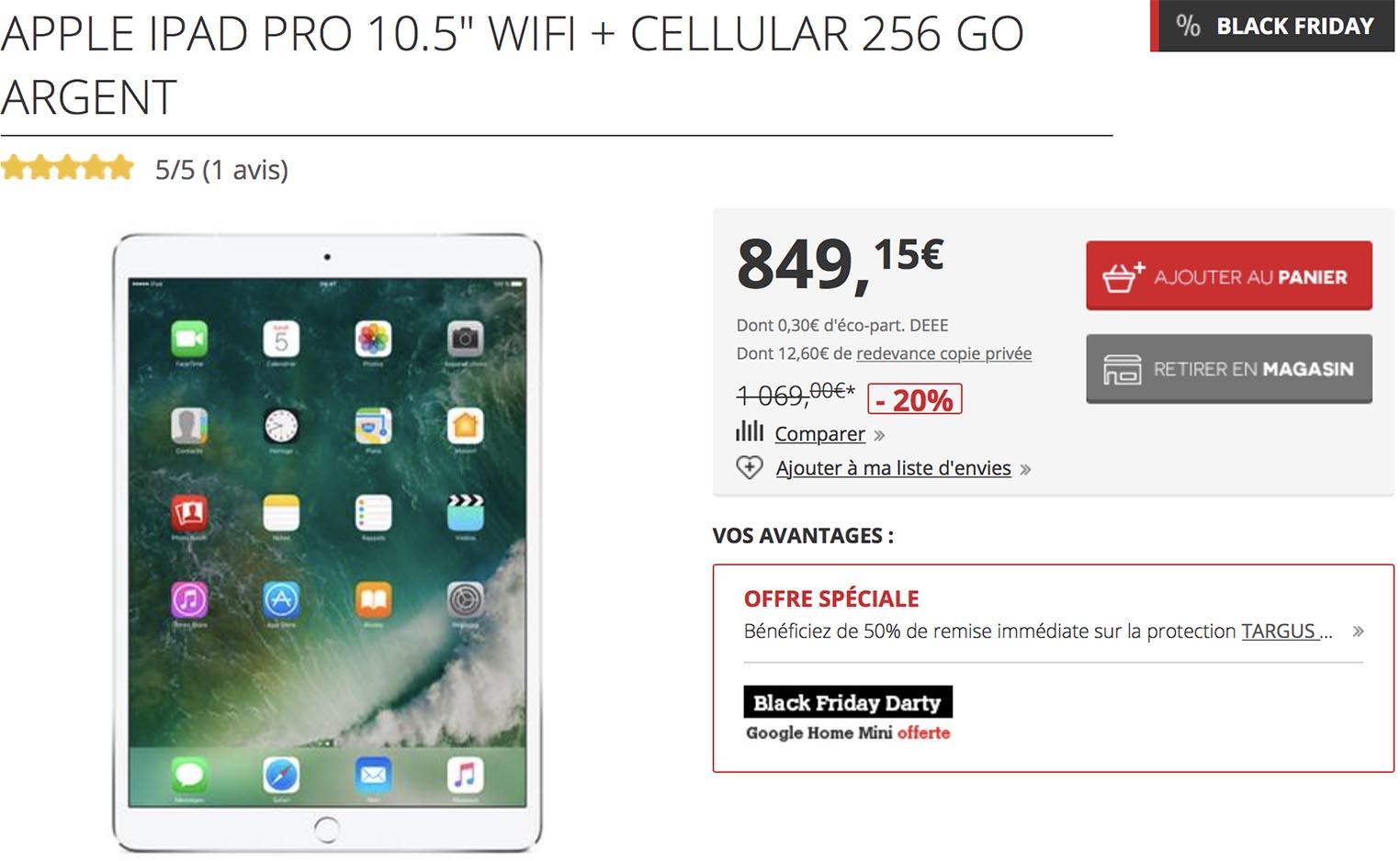 iPad Pro Black Friday Darty