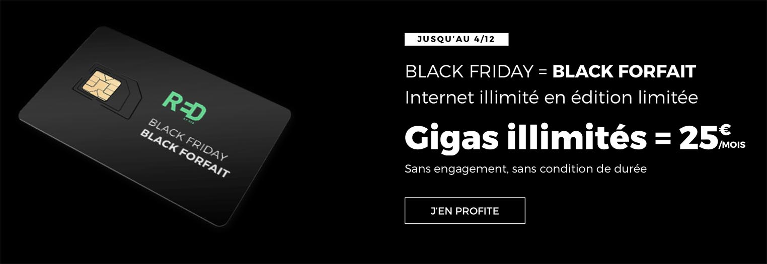 Black Friday forfait RED SFR