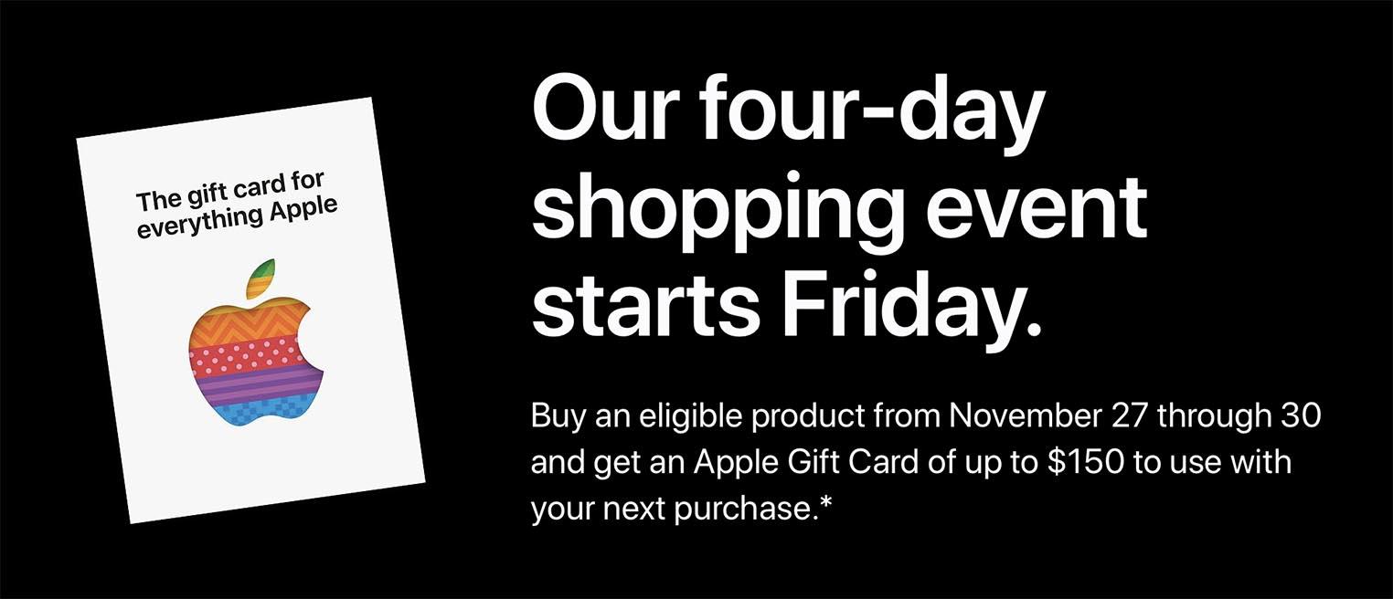 Black Friday Apple 2020 USA