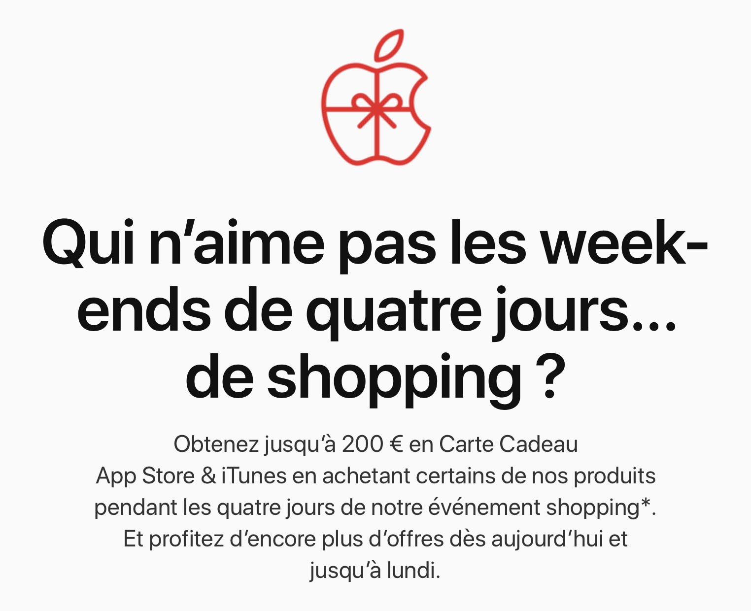 Black Friday Apple France 2019