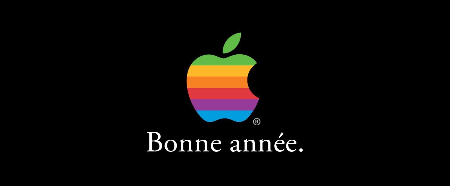 Bonne année 2019 Apple