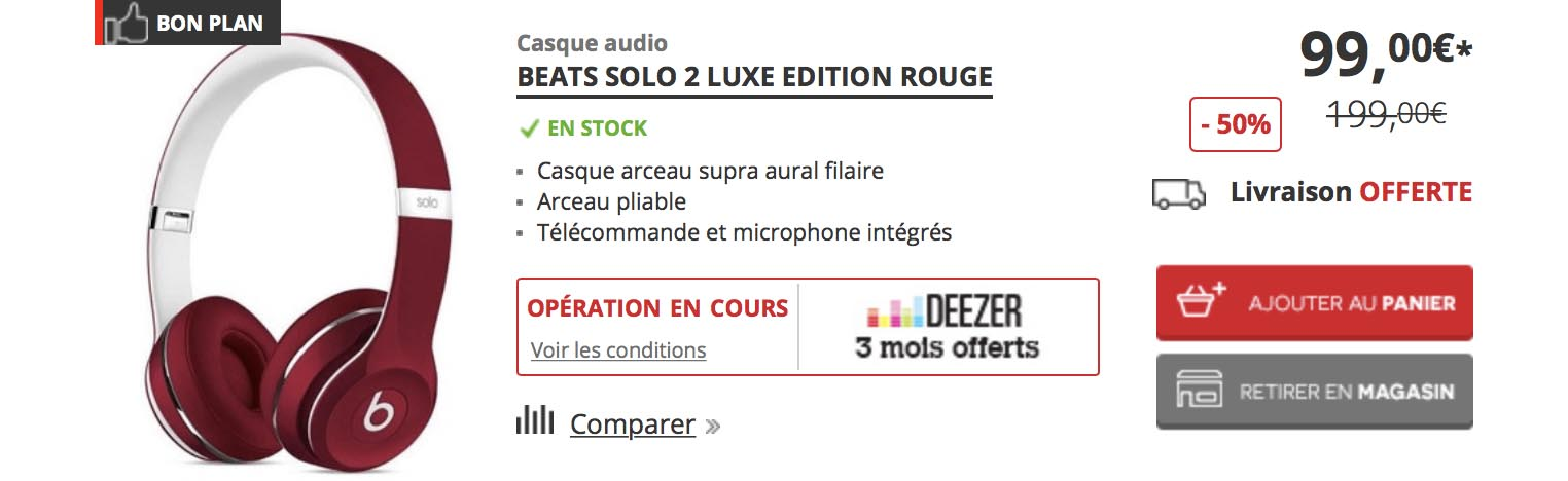 Promo casque Beats Solo2