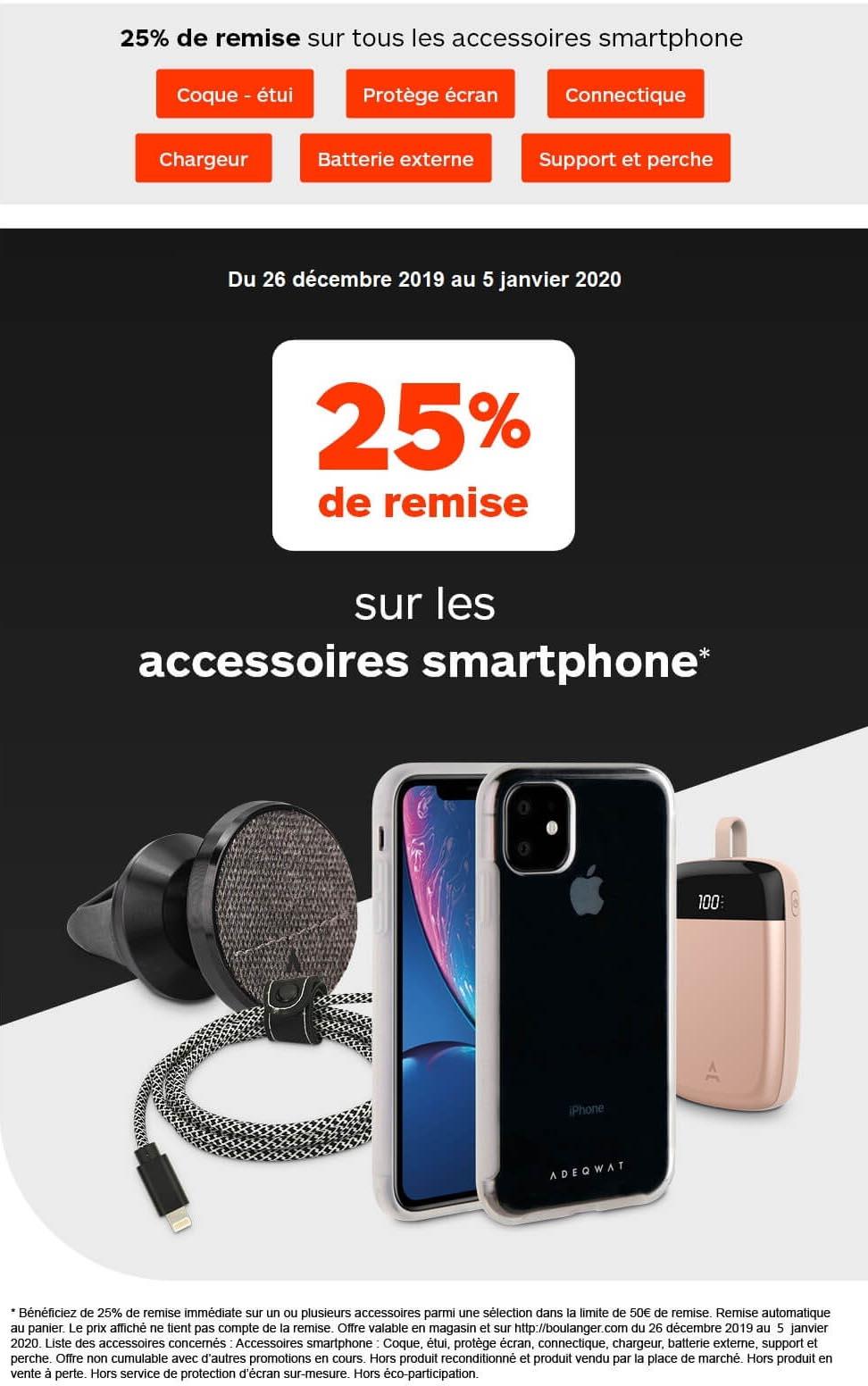 Promo Accessoires iPhone Boulanger