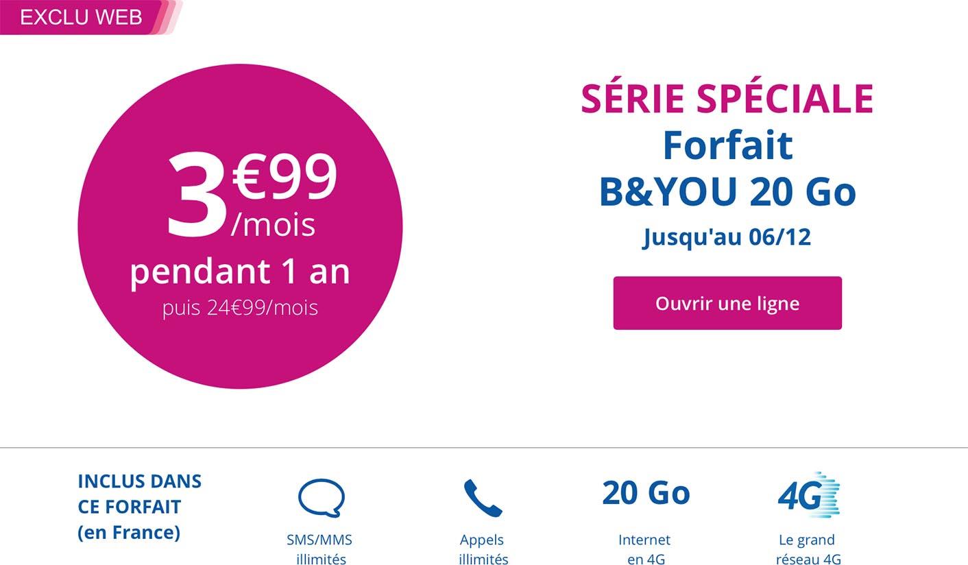 Bouygues Telecom promo forfait