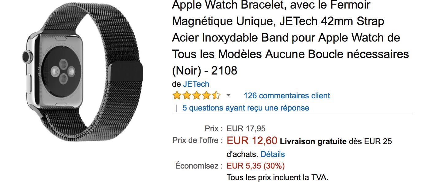 Bracelet milanais Amazon