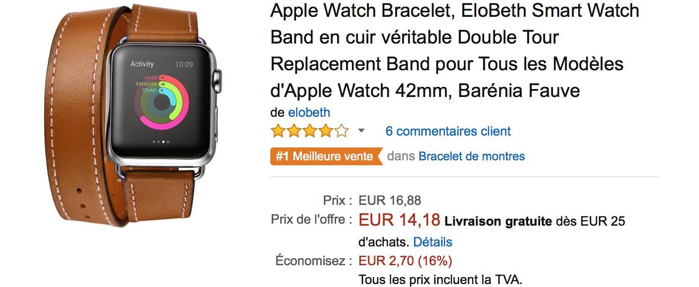 Bracelet Apple Watch cuir