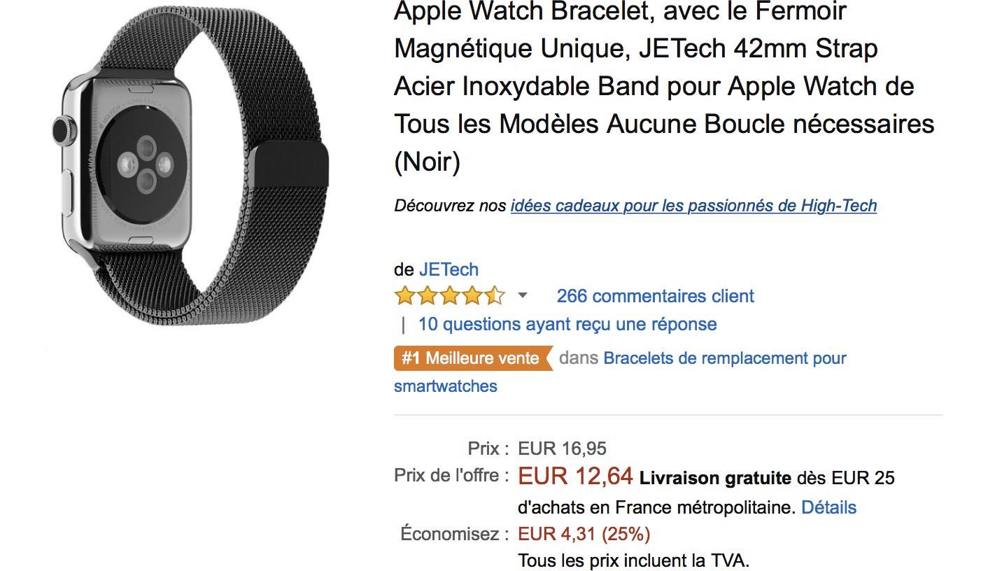 Bracelet milanais Apple Watch Amazon