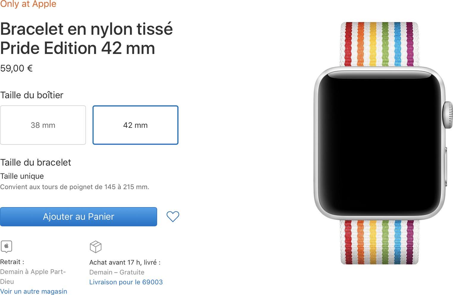Bracelet Apple Watch Pride Edition