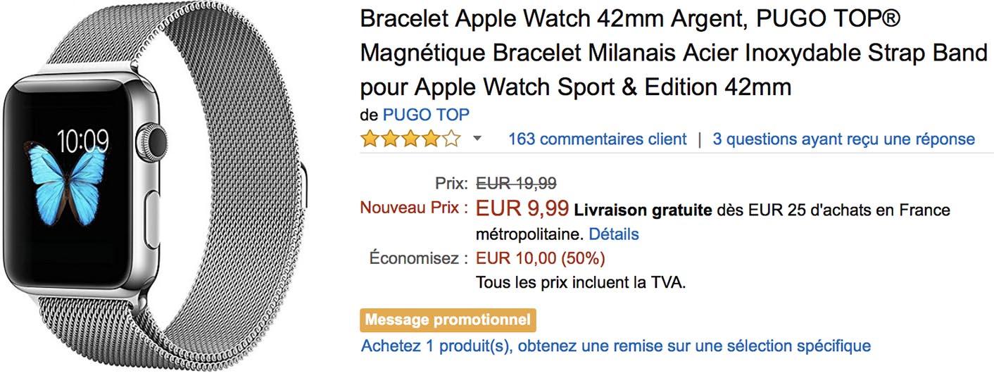 Bracelet Apple Watch Amazon
