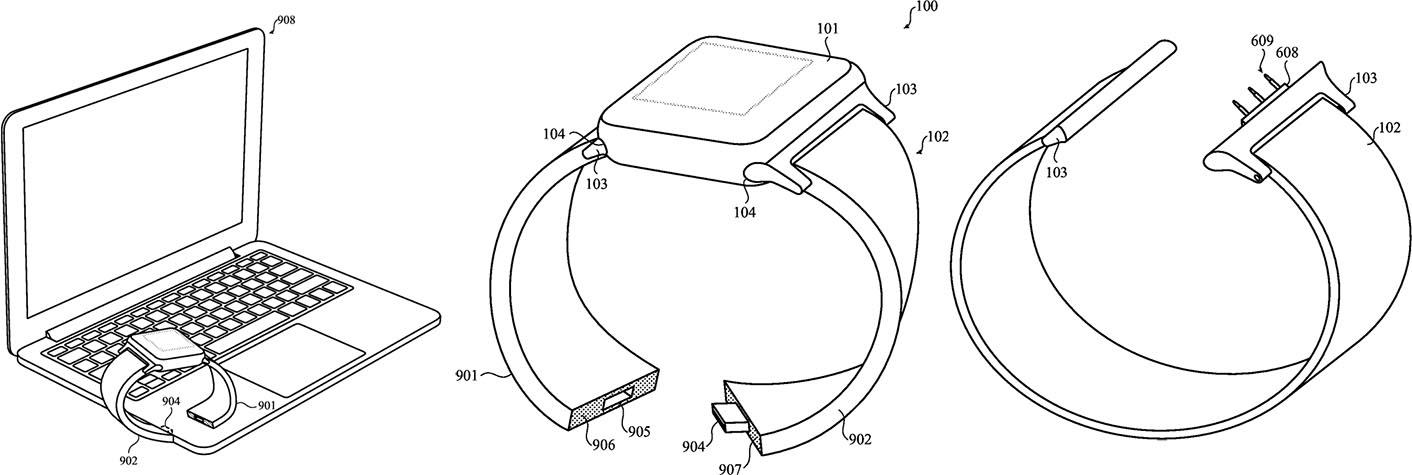 Bracelets modulaires brevet Apple Watch