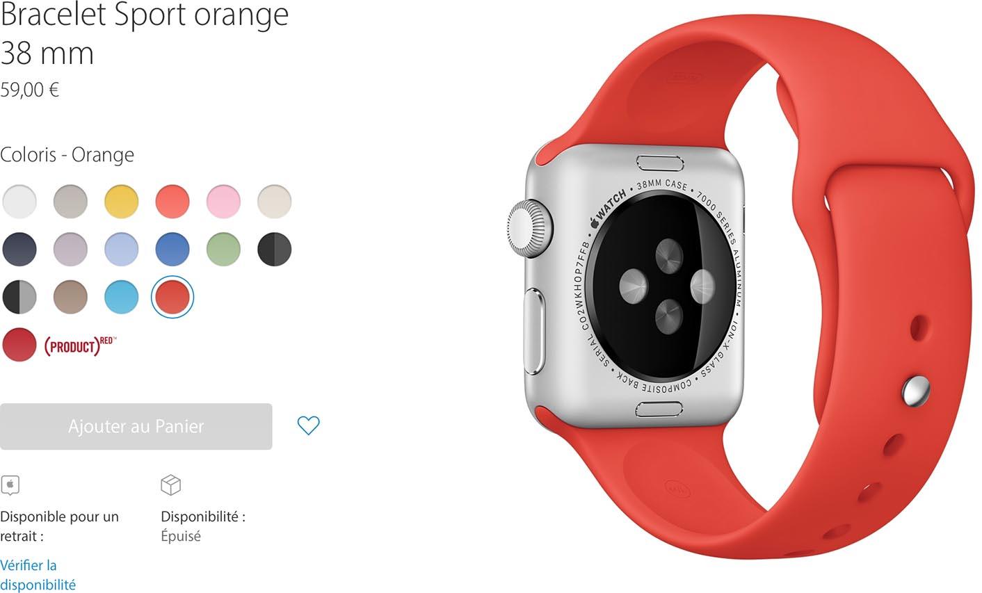 Bracelet Apple Watch Sport Orange