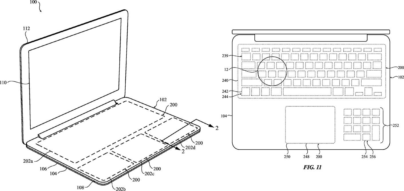 Brevet clavier virtuel MacBook