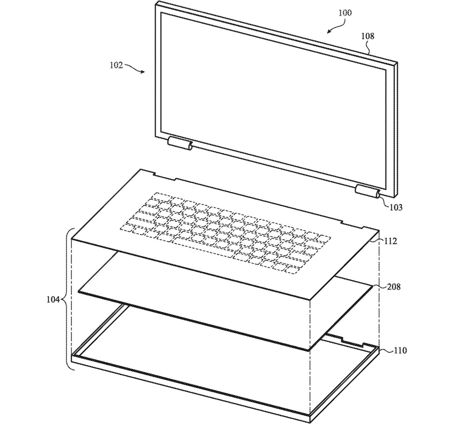 Apple brevet clavier verre flexible