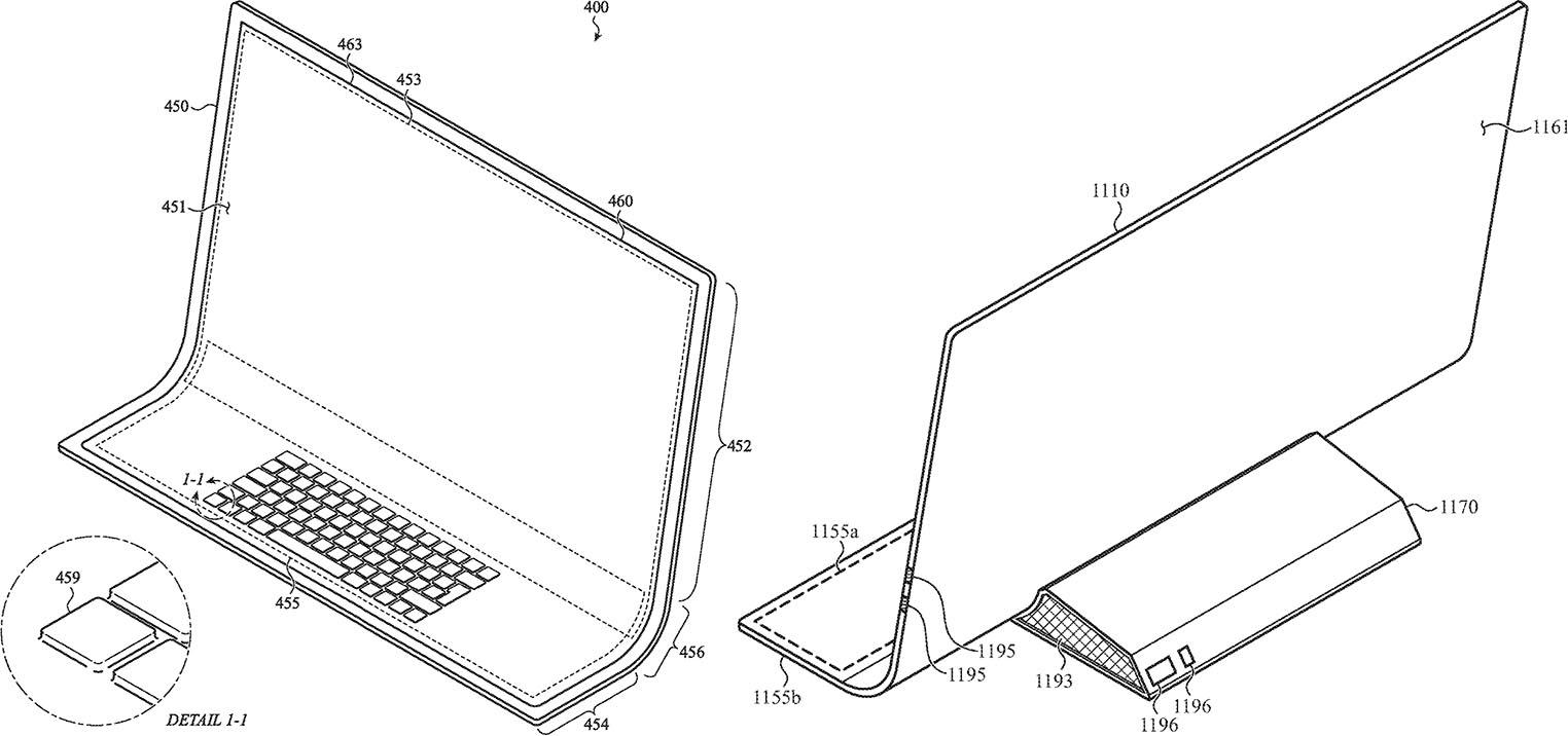 Brevet iMac verre flexible