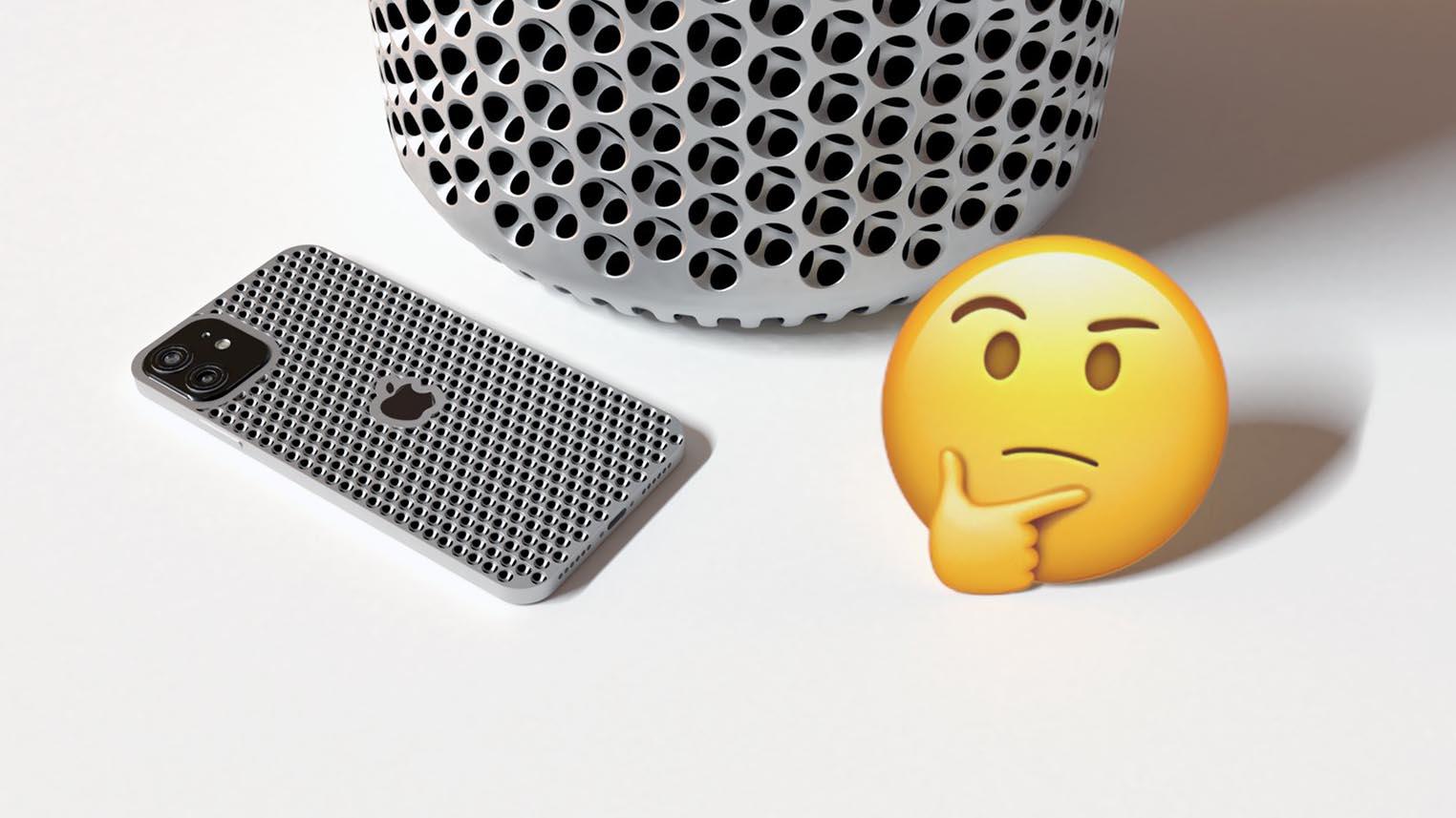iPhone Mac Pro design à trous