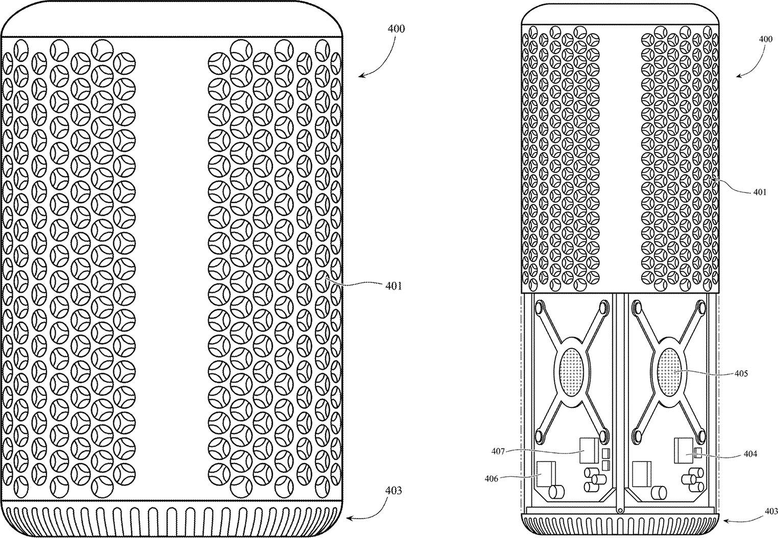 Brevet design trous iPhone