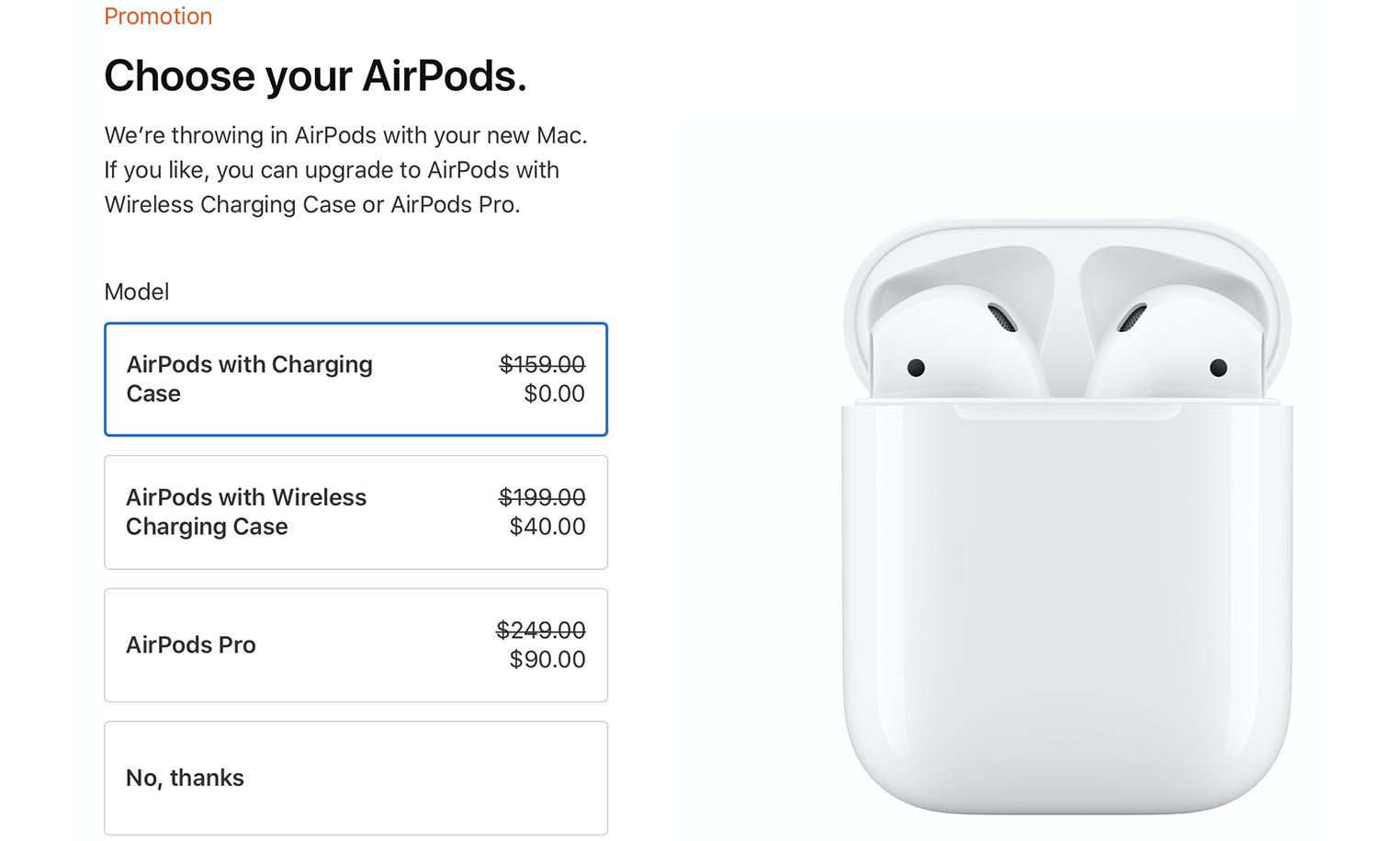Back to School 2020 AirPods promo