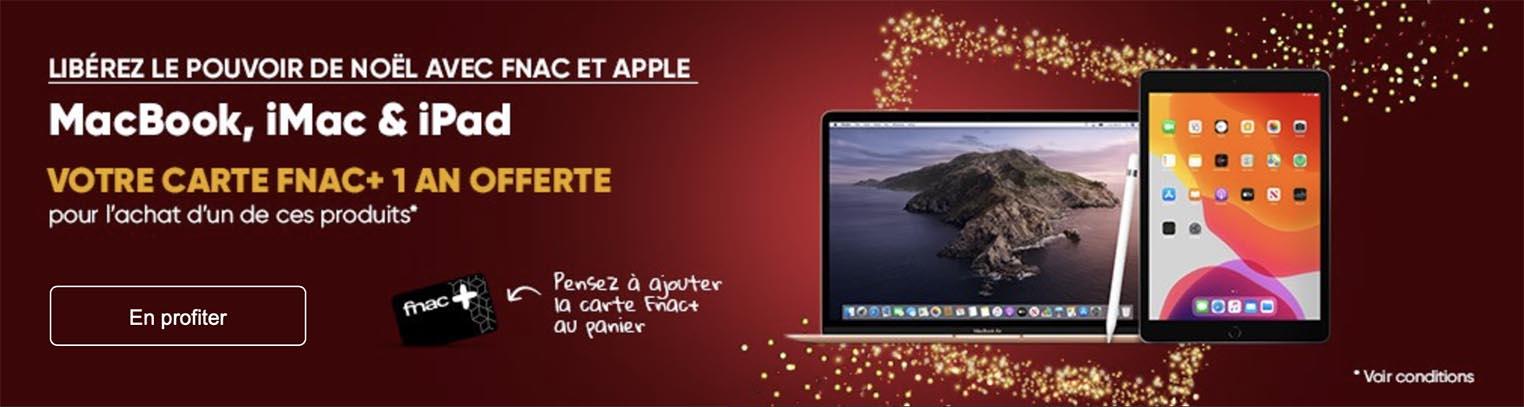 Carte Fnac offerte Apple