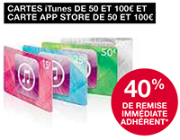 Réduction carte iTunes Fnac