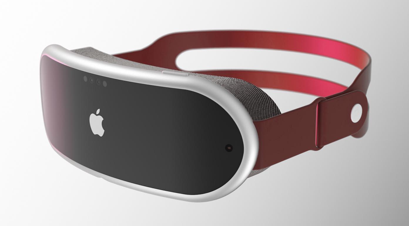 Concept casque réalité mixte Apple