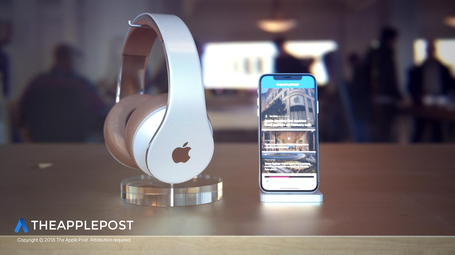 Casque Apple rendu 3D