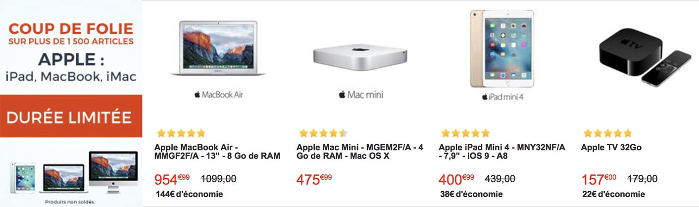 CDiscount vente flash Apple