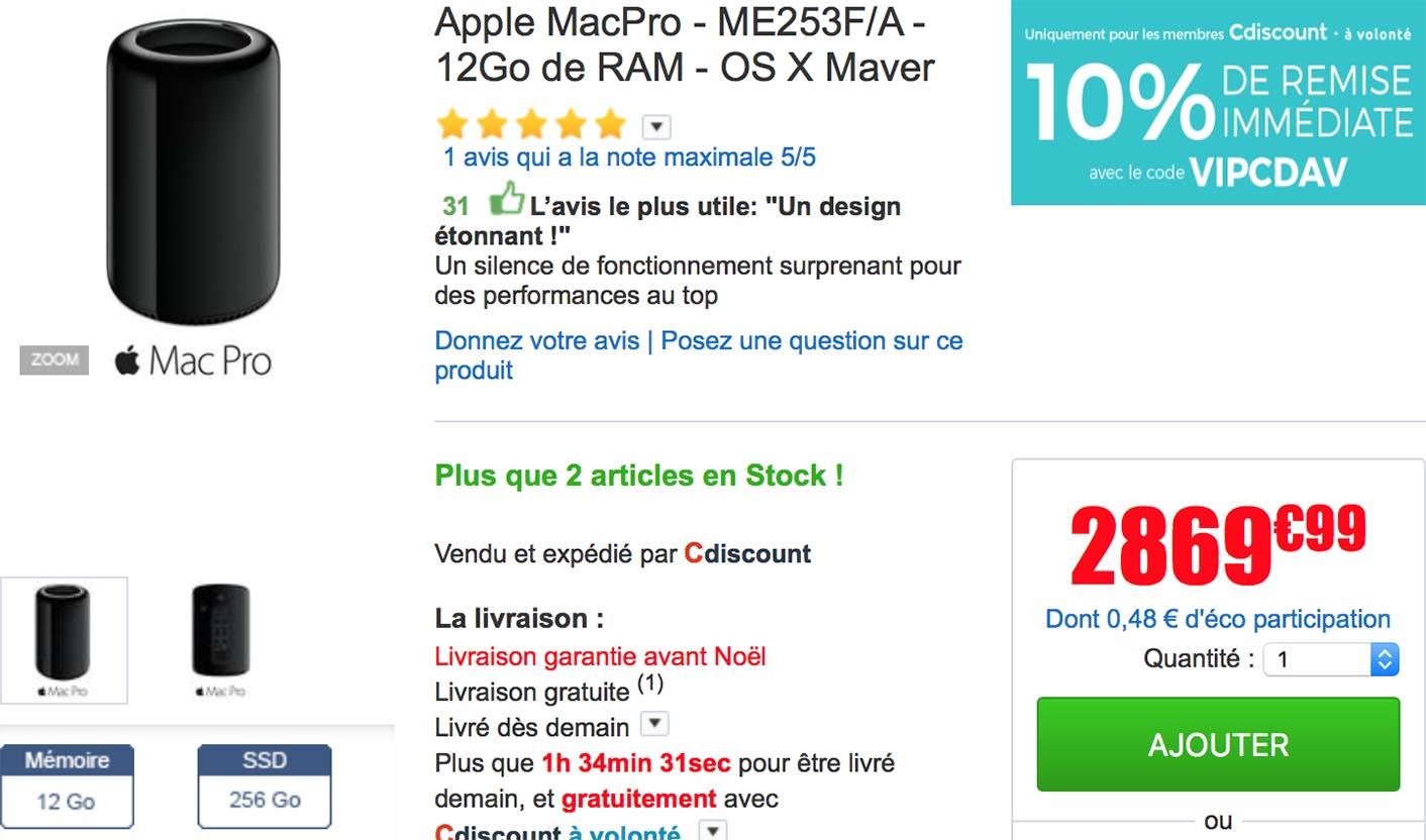 Promo Mac Pro CDiscount