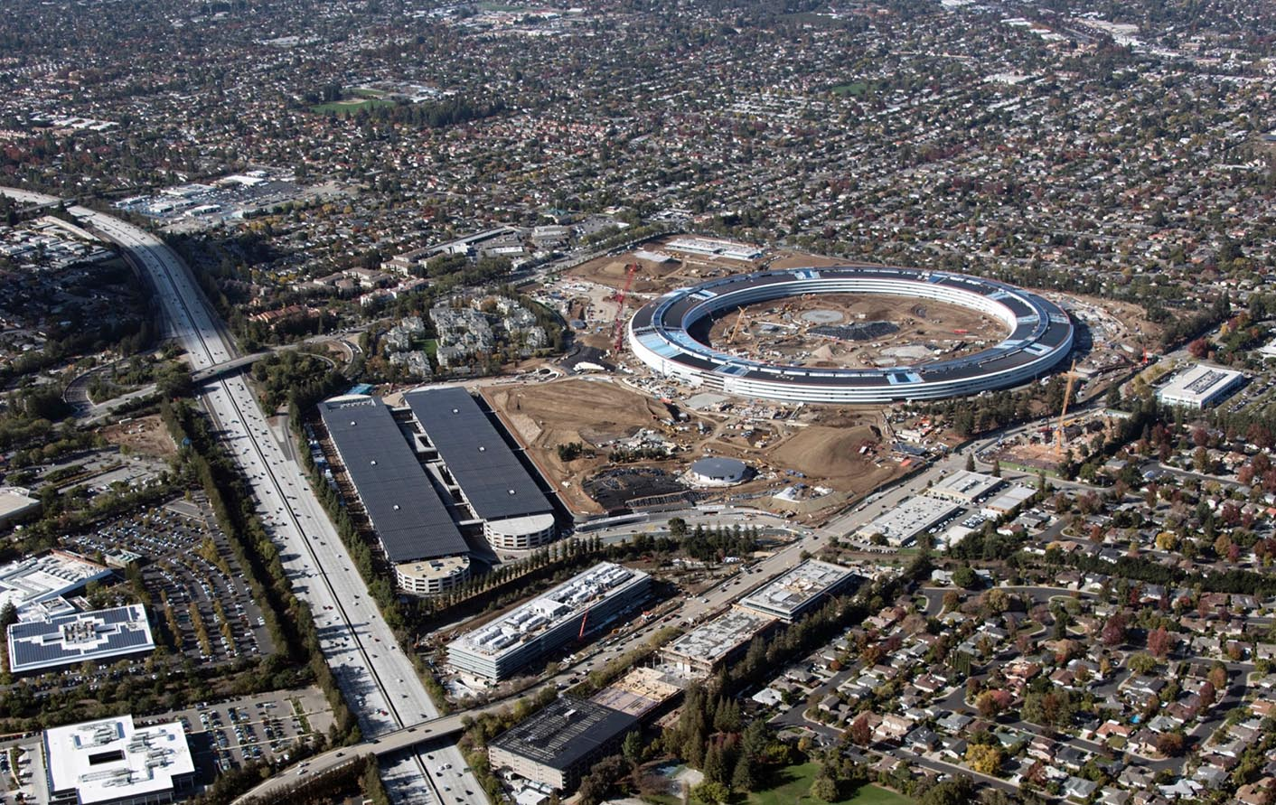 Chantier Apple Campus 2 Cupertino