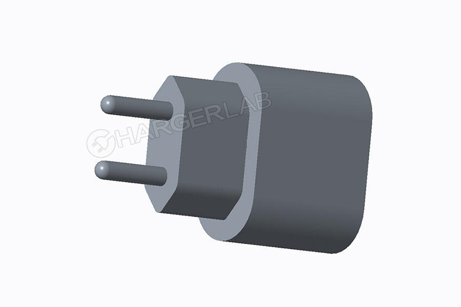Chargeur USB-C iPhone 2018 rendu