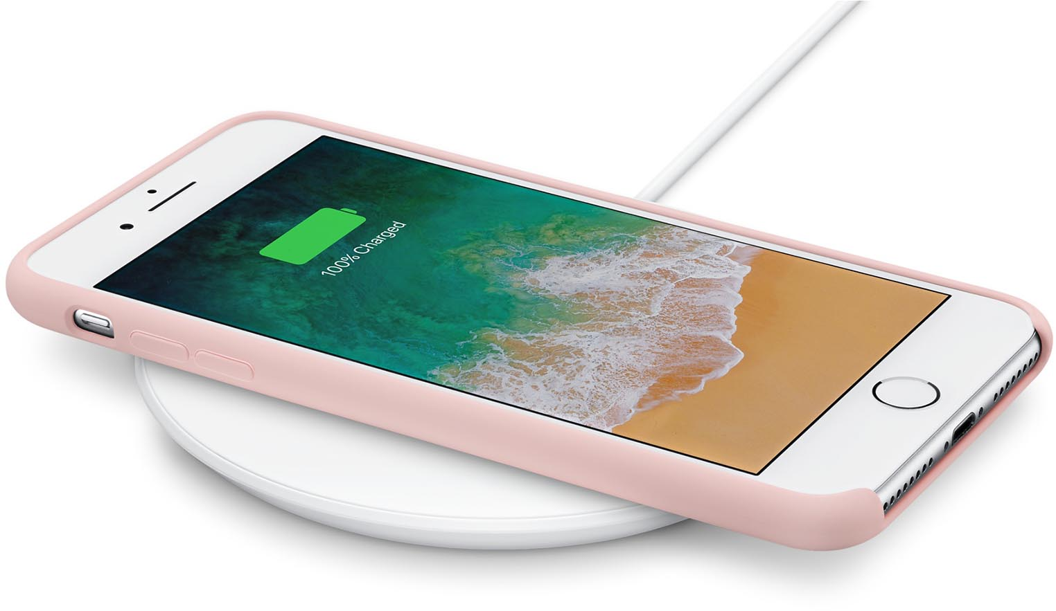 Chargeur induction Qi iPhone 8