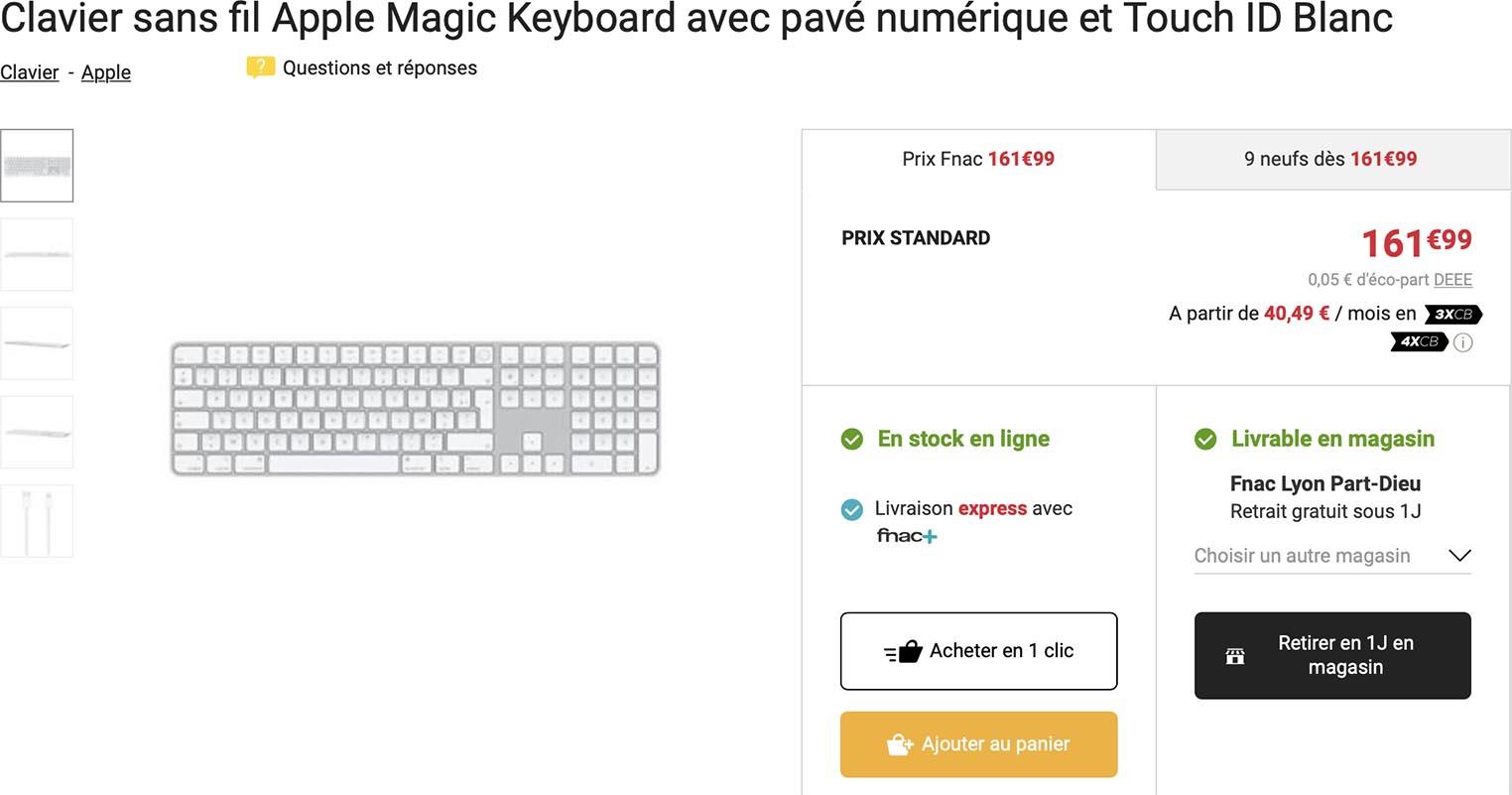 Magic Keyboard pavé numérique Fnac